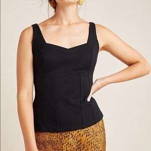 Anthropologie Structured Retro Kyla Tank